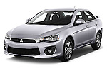 2016 Mitsubishi Lancer Intense 4 Door Sedan Angular Front stock photos of front three quarter view