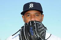 Feb 21, 2009; Lakeland, FL, USA; The Detroit Tigers pitcher Edwin Jackson (36) during photoday at Tigertown. Mandatory Credit: Tomasso De Rosa/ Four Seam Images