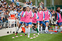 Kansas City, MO - Sunday April 16, 2017: Morgan Andrews during a regular season National Women's Soccer League (NWSL) match between FC Kansas City and the Boston Breakers at Children's Mercy Victory Field.