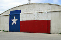Texas Lone Star Flag on Airport Hanger in Austin, Texas, USA No. 3
