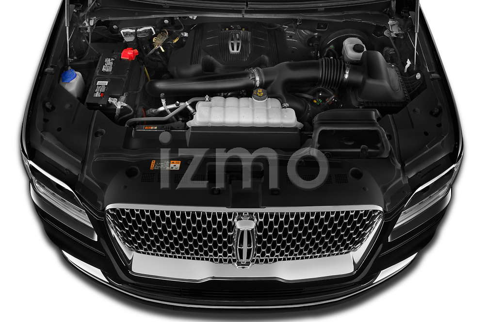 Car Stock 2020 Lincoln Navigator Reserve-L 5 Door SUV Engine  high angle detail view