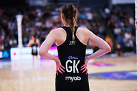 Silver Ferns goalkeep Kelly Jury during the Cadbury Netball Series final between NZ Silver Ferns and NZ Men at the Fly Palmy Arena in Palmerston North, New Zealand on Saturday, 24 October 2020. Photo: Dave Lintott / lintottphoto.co.nz