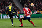 Atletico de Madrid's Filipe Luis and Juventus' Mattia de Sciglio during UEFA Champions League match, Round of 16, 1st leg between Atletico de Madrid and Juventus at Wanda Metropolitano Stadium in Madrid, Spain. February 20, 2019. (ALTERPHOTOS/A. Perez Meca)