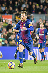 Lionel Messi of FC Barcelona runs with the ball during the La Liga 2017-18 match between FC Barcelona and Deportivo La Coruna at Camp Nou Stadium on 17 December 2017 in Barcelona, Spain. Photo by Vicens Gimenez / Power Sport Images