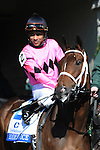 April 05, 2014: Room Service for trainer Wayne Catalano, owners Gary and Mary West and jockey Shaun Bridgmohan at Keeneland dead heats for the win in the $500,000 G1 Ashland S. with e (outside).Jessica Morgan/ESW/CSM