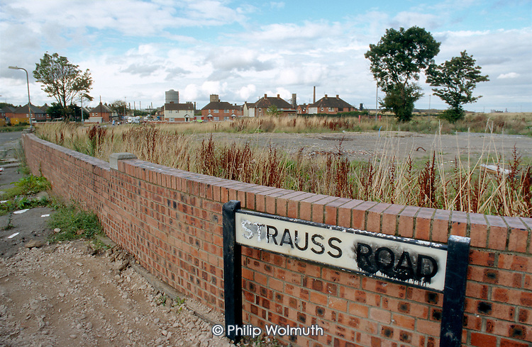 Site of demolished unwanted housing in the South Bank area of Middlesborough.