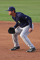 Cedar Rapids Kernels first baseman Tyler Kuresa (22) during a game against the Wisconsin Timber Rattlers on May 4th, 2015 at Fox Cities Stadium in Appleton, Wisconsin.  Cedar Rapids defeated Wisconsin 9-3.  (Brad Krause/Four Seam Images)