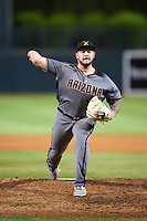 Salt River Rafters pitcher Joey Krehbiel (14), of the Arizona Diamondbacks organization, during a game against the Glendale Desert Dogs on October 19, 2016 at Camelback Ranch in Glendale, Arizona.  Salt River defeated Glendale 4-2.  (Mike Janes/Four Seam Images)