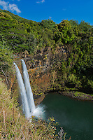 Wailua Falls on the island of Kaua'i.