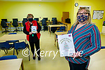 Jackie Landers (front) with Patricia Lyons from the Listowel Family Resource Centre, who are dealing with an increased demand for their services by families that are feeling isolated during the current lockdown.