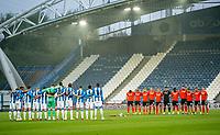 7th November 2020 The John Smiths Stadium, Huddersfield, Yorkshire, England; English Football League Championship Football, Huddersfield Town versus Luton Town; both teams observe one minutes silence