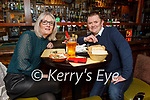 Donal Carmody from Tralee celebrating his 50th birthday in the Brogue Inn with his wife Annette on Saturday.