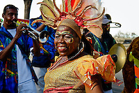An old Colombian woman dances during the Carnival in Barranquilla, Colombia, 27 February 2006. The Carnival of Barranquilla is a unique festivity which takes place every year during February or March on the Caribbean coast of Colombia. A colourful mixture of the ancient African tribal dances and the Spanish music influence - cumbia, porro, mapale, puya, congo among others - hit for five days nearly all central streets of Barranquilla. Those traditions kept for centuries by Black African slaves have had the great impact on Colombian culture and Colombian society. In November 2003 the Carnival of Barranquilla was proclaimed as the Masterpiece of the Oral and Intangible Heritage of Humanity by UNESCO.