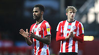 Brentford's Rico Henry applauds the home fans at the final whistle during Brentford vs Middlesbrough, Sky Bet EFL Championship Football at Griffin Park on 8th February 2020