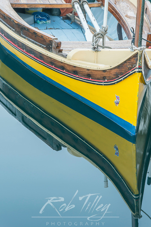 Europe, Malta, Birgu, Marina Reflections