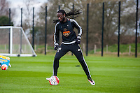 Tuesday 19 April 2016<br /> Pictured: Marvin Emnes of Swansea City in action during training.<br /> Re: Swansea City Training Session ahead of the away game against Leicester City FC