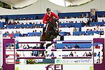Equestrian - Showjumping - Meydan FEI Nations Cup.Steve Guerdat (SUI) aboard Tresor V in action during the Meydan FEI Nations Cup at the Royal Dublin Society (RDS) in Dublin.