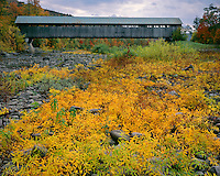 Covered bridge at North Blenheim; Adirondack Park & Preserve, NY