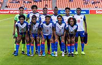 HOUSTON, TX - FEBRUARY 3: Haiti poses for their starting XI photo during a game between Panama and Haiti at BBVA Stadium on February 3, 2020 in Houston, Texas.