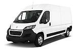 2015 Peugeot BOXER L4H2 4 Door Cargo Van Angular Front stock photos of front three quarter view