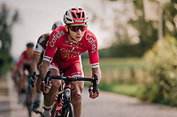Anthony Turgis (FRA/Cofidis) leading the race<br /> <br /> 98th Brussels Cycling Classic 2018<br /> One Day Race:  Brussels > Brussels (201km)