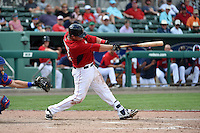 Boston Red Sox  catcher Matt Spring (81) during a Spring Training game against the New York Mets on March 16, 2015 at JetBlue Park at Fenway South in Fort Myers, Florida.  Boston defeated New York 4-3.  (Mike Janes/Four Seam Images)