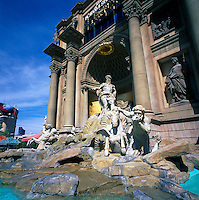 Las Vegas, Nevada, USA - Caesars Palace, along The Strip (Las Vegas Boulevard) - Fountain outside the Forum Shops Entrance
