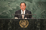 Democratic People's Republic of Korea<br /> H.E. Mr. Ri Yong Ho<br /> Minister for Foreign Affairs<br /> <br /> General Assembly Seventy-first session, 17th plenary meeting<br /> General Debate