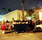 On the last day of early voting for the 2008 Presidential election voters wait around the Miami Beach Public Library after the polls have closed but were on the line before 5pm were waiting more then five hours to vote.