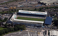 Aerial view of Ninian Park in Cardiff south Wales