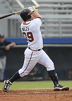 July 15, 2009: Infielder Derek WIley (39) of the Danville Braves, rookie Appalachian League affiliate of the Atlanta Braves, in a game at Dan Daniel Memorial Park in Danville, Va. Photo by:  Tom Priddy/Four Seam Images