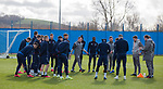 03.03.2020 Rangers training: Steven Gerrard with his players
