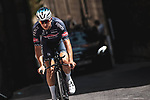 Alpecin-Fenix riders recon Stage 1 of La Vuelta d'Espana 2021, a 7.1km individual time trial around Burgos, Spain. 14th August 2021. <br /> Picture: Unipublic/Charly Lopez | Cyclefile<br /> <br /> All photos usage must carry mandatory copyright credit (© Cyclefile | Unipublic/Charly Lopez)