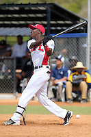 Starling Joseph participates in the International Prospect League Showcase at the New York Yankees academy in Boca Chica, Dominican Republic on January 24, 2014 (Bill Mitchell)