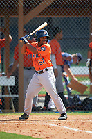 Houston Astros Edwin Medina (52) during a minor league Spring Training game against the Detroit Tigers on March 30, 2016 at Tigertown in Lakeland, Florida.  (Mike Janes/Four Seam Images)