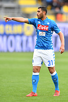 Faouzi Ghoulam of Napoli reacts during the Serie A 2018/2019 football match between Frosinone and SSC Napoli at stadio Benito Stirpe, Frosinone, April 28, 2019 <br /> Photo Andrea Staccioli / Insidefoto