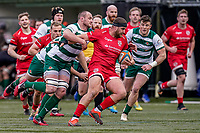 Roy Godfrey of Jersey Reds during the Championship Cup QF match between Ealing Trailfinders and Jersey Reds at Castle Bar, West Ealing, England  on 22 February 2020. Photo by David Horn.