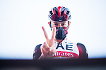 David De La Cruz (ESP) UAE Team Emirates at sign on before the start of Stage 14 of La Vuelta d'Espana 2021, running 165.7km from Don Benito to Pico Villuercas, Spain. 28th August 2021.     <br /> Picture: Unipublic/Charly Lopez   Cyclefile<br /> <br /> All photos usage must carry mandatory copyright credit (© Cyclefile   Charly Lopez/Unipublic)