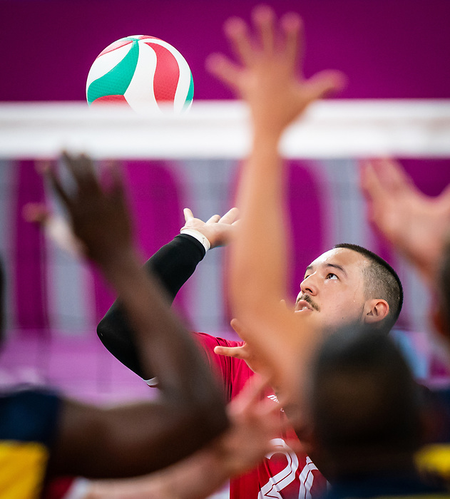 Jesse Buckingham, Lima 2019 - Sitting Volleyball // Volleyball assis.<br /> Canada competes for the bronze medal in men's Sitting Volleyball // Canada participe pour la médaille de bronze en volleyball assis masculin. 28/08/2019.