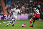 Daniel Carvajal Ramos of Real Madrid in action during their Copa del Rey Round of 16 match between Real Madrid and Sevilla FC at the Santiago Bernabeu Stadium on 04 January 2017 in Madrid, Spain. Photo by Diego Gonzalez Souto / Power Sport Imagesd