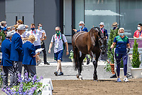 IRL-Heike Holstein presents Sambuca during the 1st Horse Inspection for the Dressage at the Equestrian Park. Tokyo 2020 Olympic Games. Friday 23 July 2021. Copyright Photo: Libby Law Photography