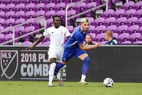 Orlando, Florida - Saturday January 13, 2018: Tristan Blackmon and Francis Atuahene. Match Day 1 of the 2018 adidas MLS Player Combine was held Orlando City Stadium.