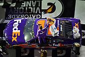 2017 NASCAR Monster Energy Cup - Can-Am Duels<br /> Daytona International Speedway, Daytona Beach, FL USA<br /> Thursday 23 February 2017<br /> Denny Hamlin, FedEx Express Toyota Camry, wins the 2nd Can-Am Duel.<br /> World Copyright: John K Harrelson / LAT Images<br /> ref: Digital Image 17DAY2jh_03331