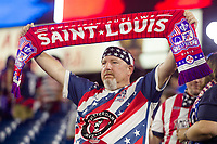 NASHVILLE, TN - SEPTEMBER 5: A USA Fan holds a scarf after a game between Canada and USMNT at Nissan Stadium on September 5, 2021 in Nashville, Tennessee.