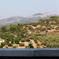 A view of the hills where are located the little towns of San Polo dei Cavalieri e Marcellina, across cultivated fields (Tivoli, 2020).<br /> <br /> Una vista delle colline dove si trovano le cittadine di San Polo dei Cavalieri e Marcellina, attraverso campi coltivati (Tivoli, 2020).