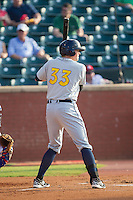 Cameron Seitzer (33) of the Montgomery Biscuits at bat against the Chattanooga Lookouts at AT&T Field on July 24, 2014 in Chattanooga, Tennessee.  The Biscuits defeated the Lookouts 6-4. (Brian Westerholt/Four Seam Images)