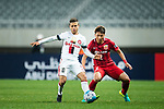 Sydney Wanderers Forward Nicolas Martinez (L) in action against Shanghai FC Defender Zhang Wei (R) during the AFC Champions League 2017 Group F match between Shanghai SIPG FC (CHN) vs Western Sydney Wanderers (AUS) at the Shanghai Stadium on 28 February 2017 in Shanghai, China. Photo by Marcio Rodrigo Machado / Power Sport Images