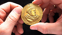 Henry VIII gold medal minted to mark him becoming head of the Church of England sells for £246K