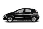 Car Driver side profile view of a 2014 Fiat PUNTO SPORTLINE 5 Door Hatchback 2WD Side View