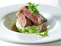 Sirloin Steak and leek mash